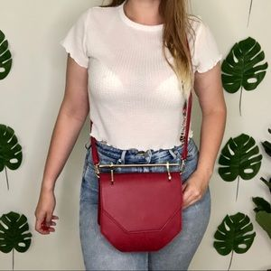 NWT The 'Hester' Gold Hardware Crossbody in Wine